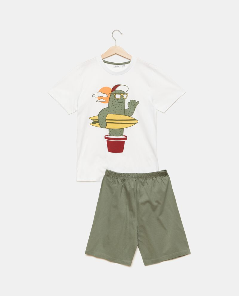 Set pigiama puro cotone con t-shirt e shorts bambino