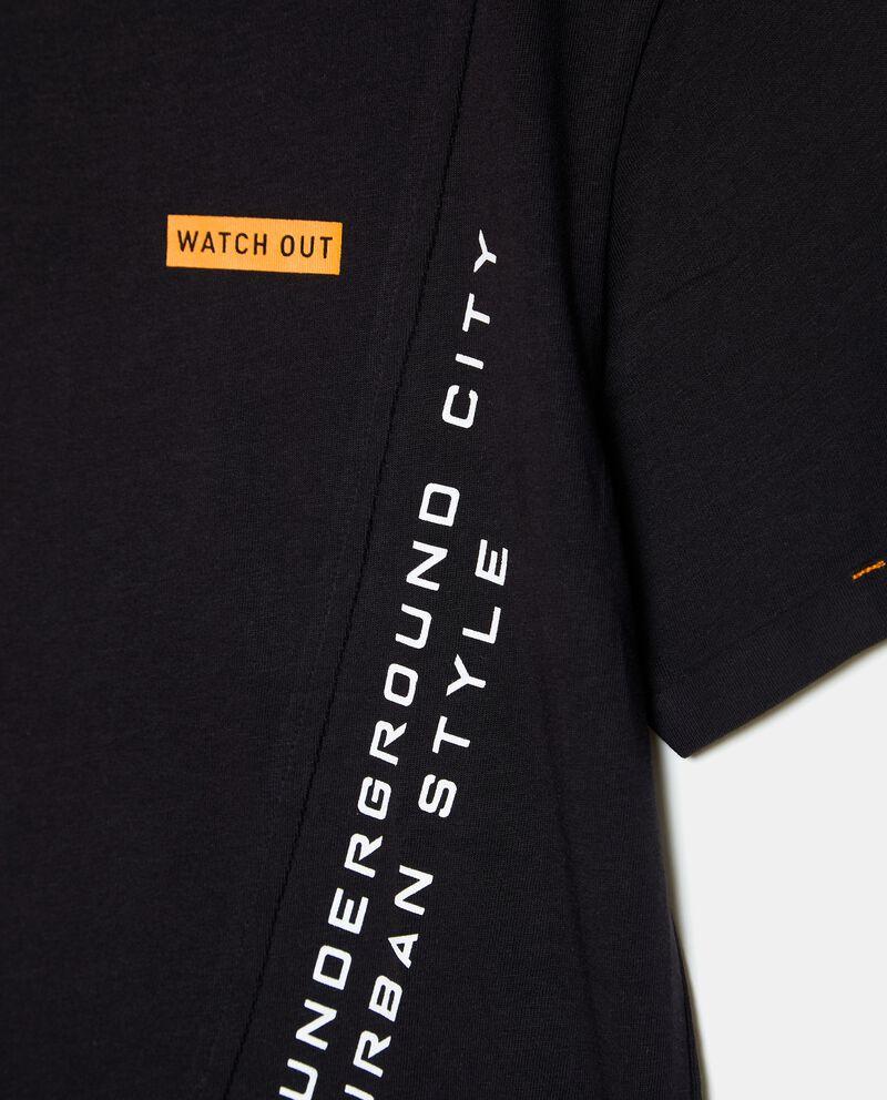 T-shirt in cotone organico jersey con taglio ragazzo