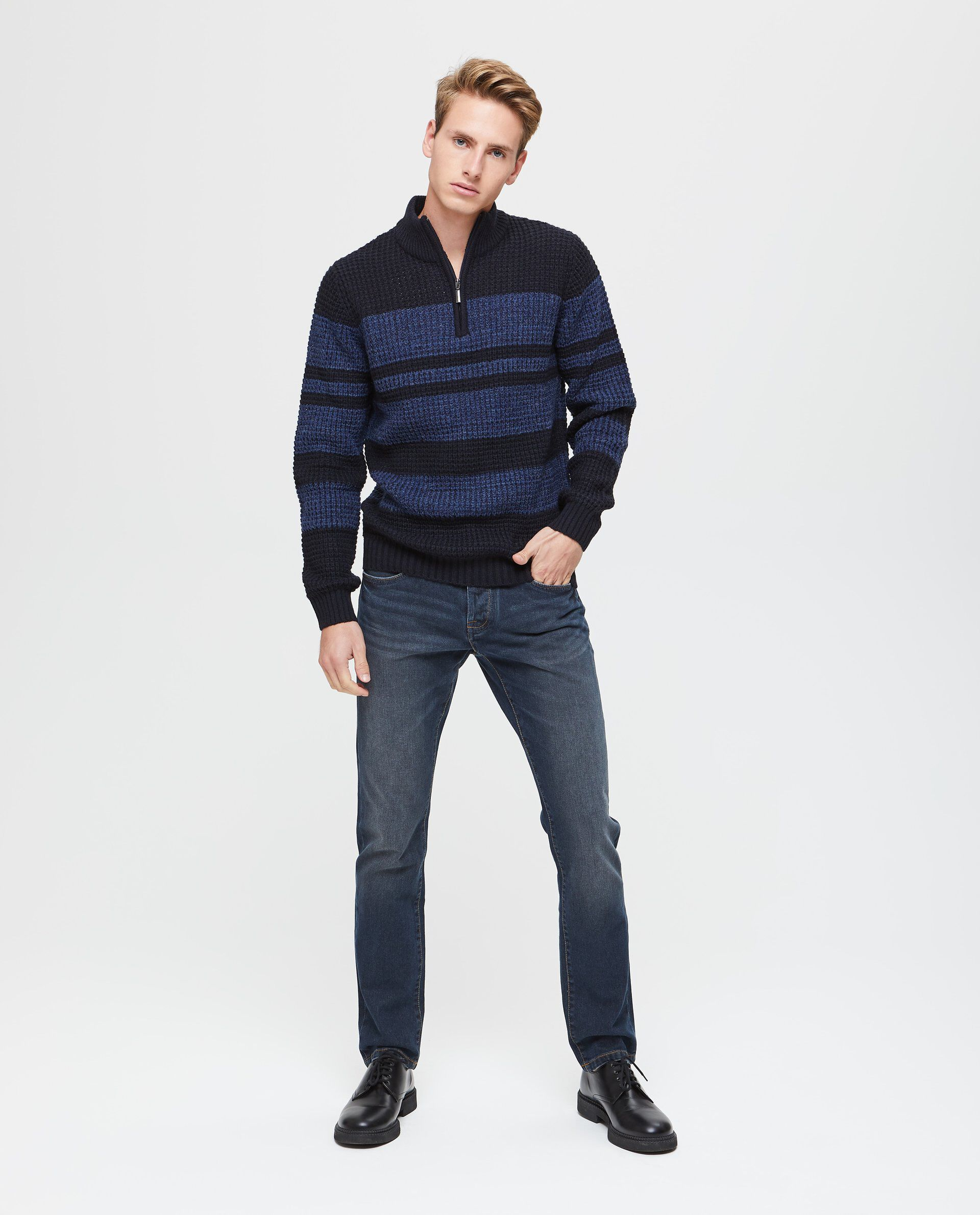 Maglione con righe uomo