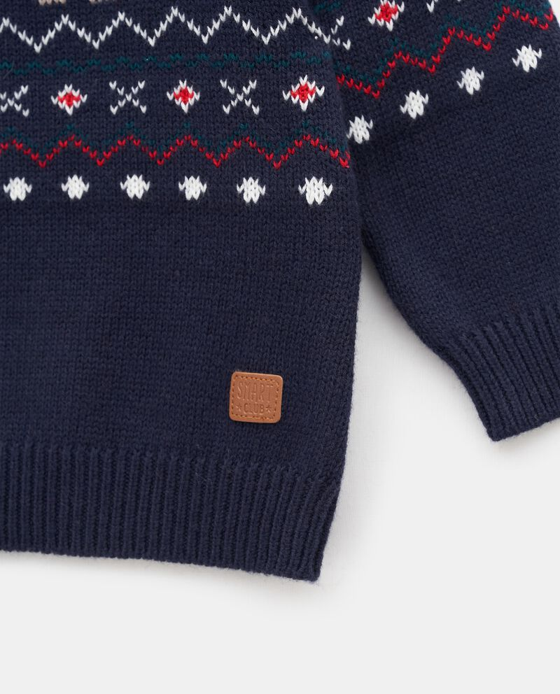 Girocollo tricot jacquard neonato single tile 1
