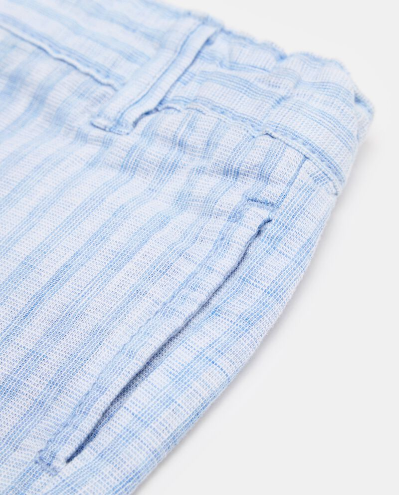 Shorts due tasche e fantasia righe