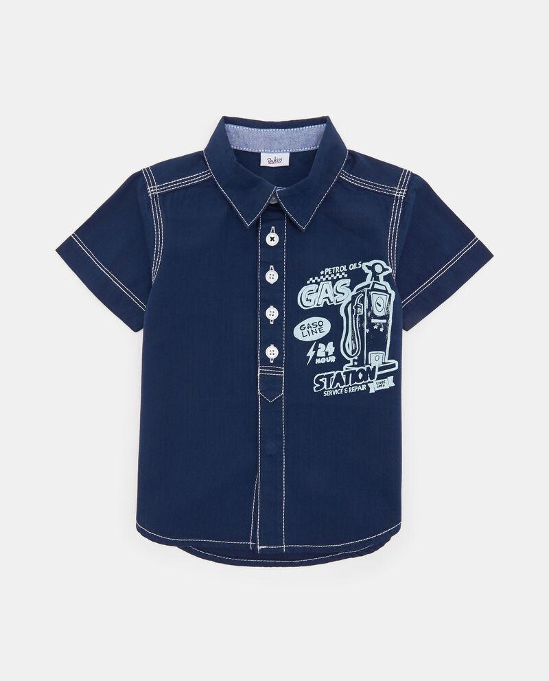 Camicia in denim cuciture a contrasto