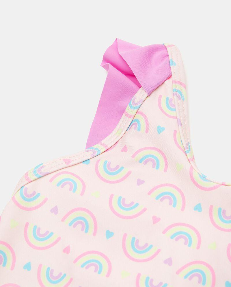 Costume intero con stampa arcobaleni neonata