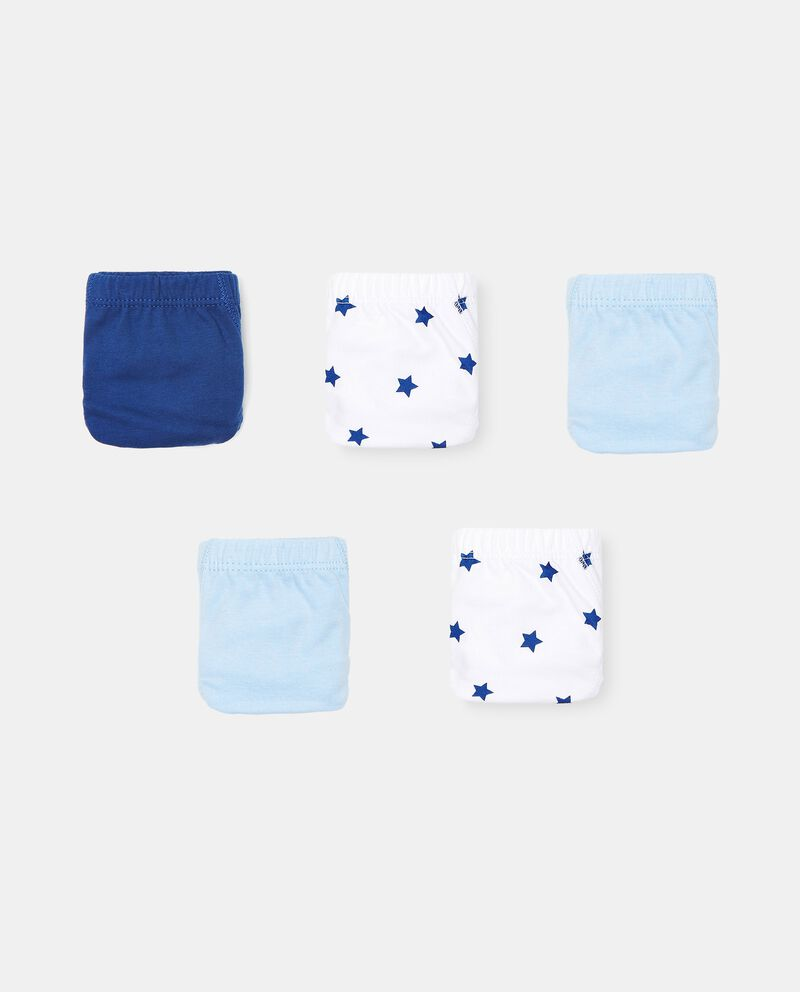 Set di 5 slip in cotone organico bambinodouble bordered 0