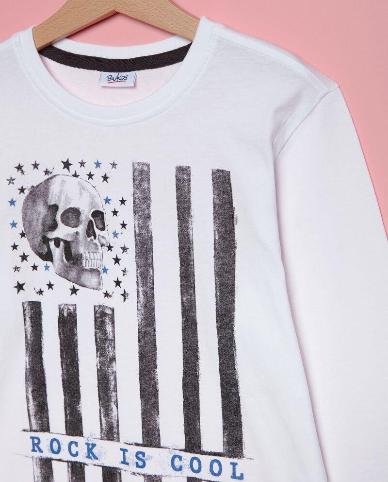 T-shirt in puro cotone stampata ragazzo