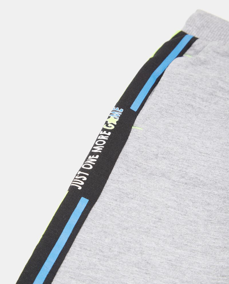 Pantaloni con bande laterali a contrasto neonato single tile 1