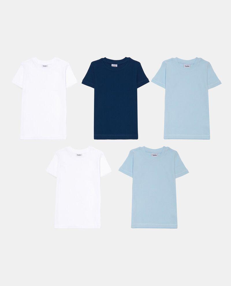Set cinque t-shirt intime puro cotone