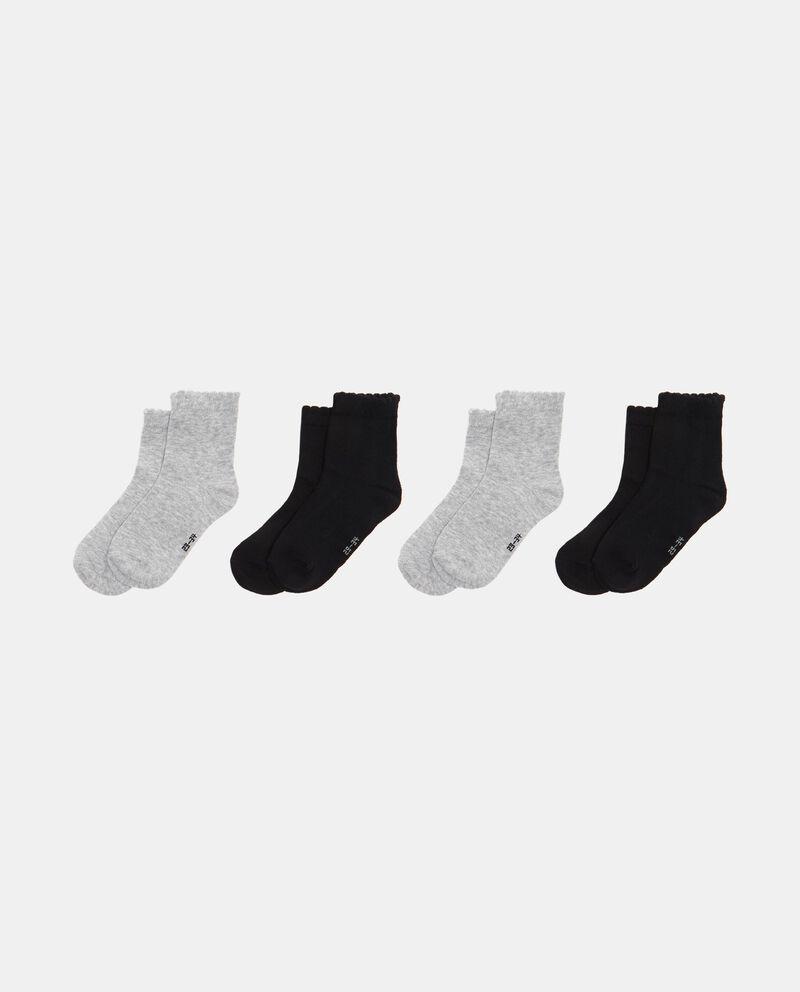 Set quattro calze mélange e tinta unita