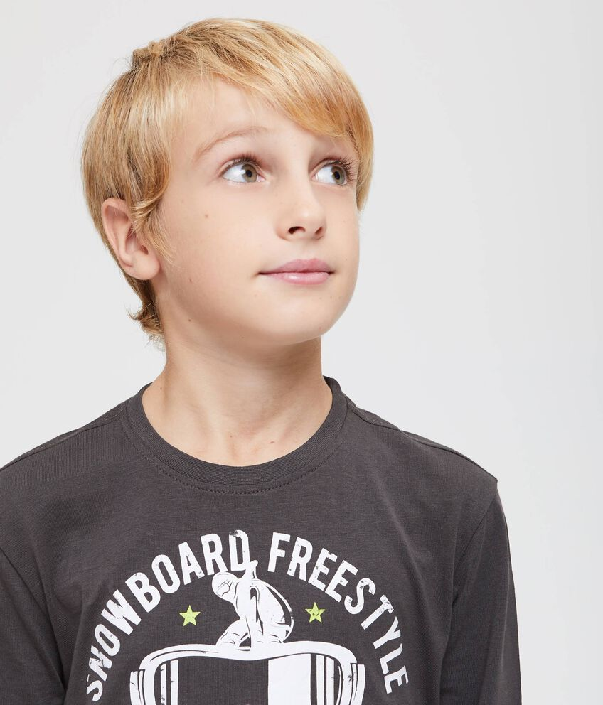 T-shirt puro cotone cuciture a contrasto