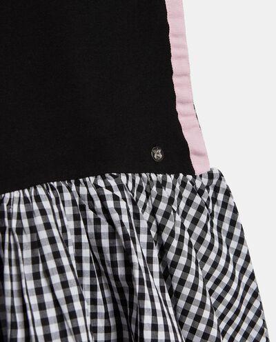 Vestito in cotone elasticato con paillettes bambina
