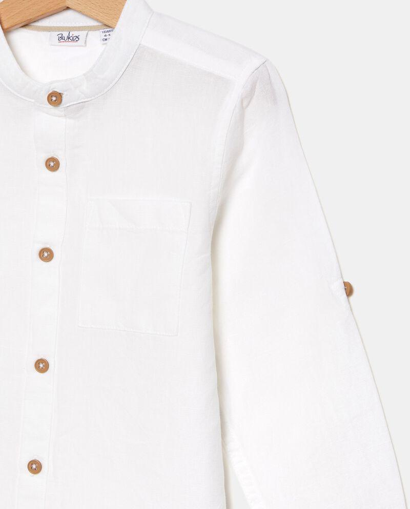 Camicia in cotone organico misto lino bambino single tile 1