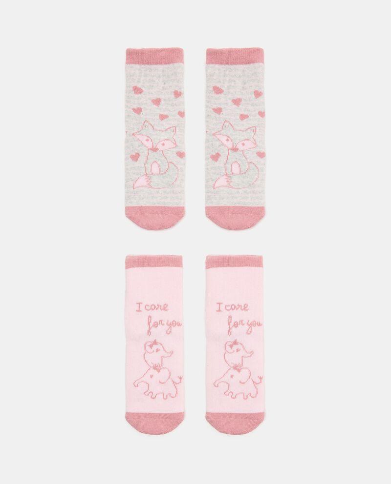 Set con 2 paia di calzini di cotone biologico stretch neonata cover