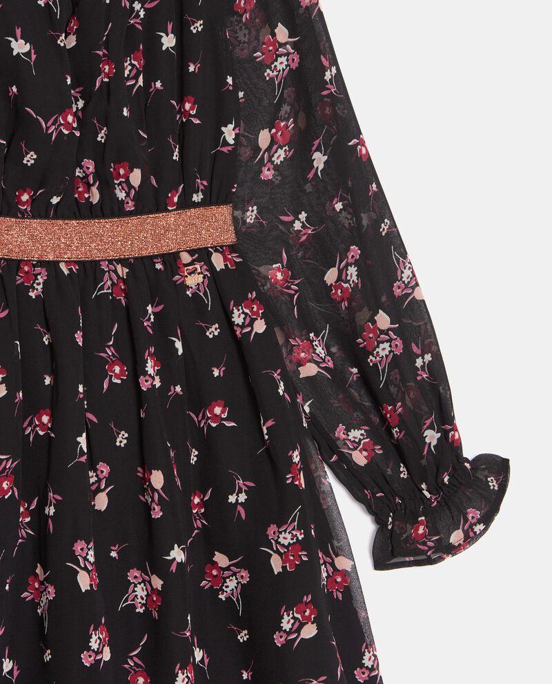 Vestito in georgette stampata ragazza single tile 1
