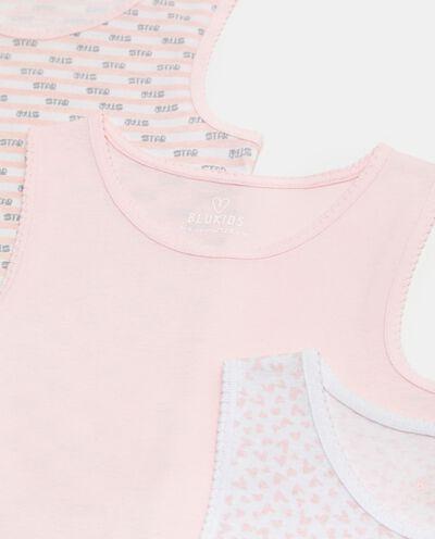 Set di 3 canotte intime di puro cotone biologico bambina detail 1