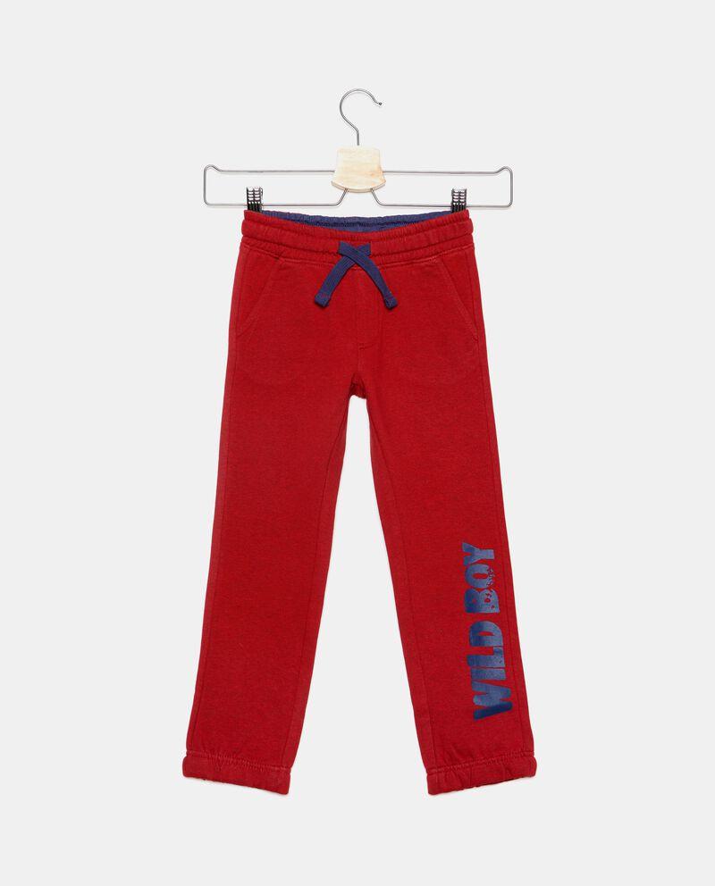 Pantaloni con lettering a contrasto bambino