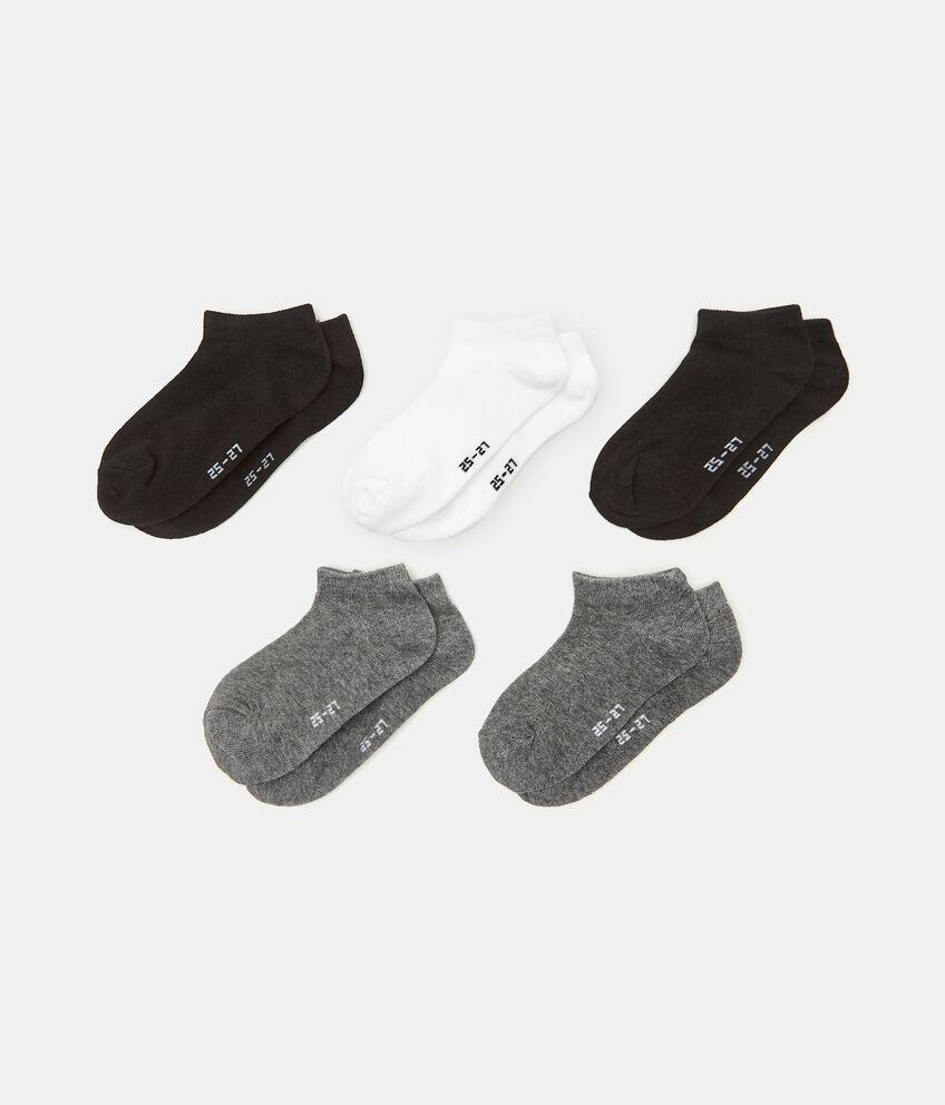 Set di 5 paia di calzini in cotone stretch bambino