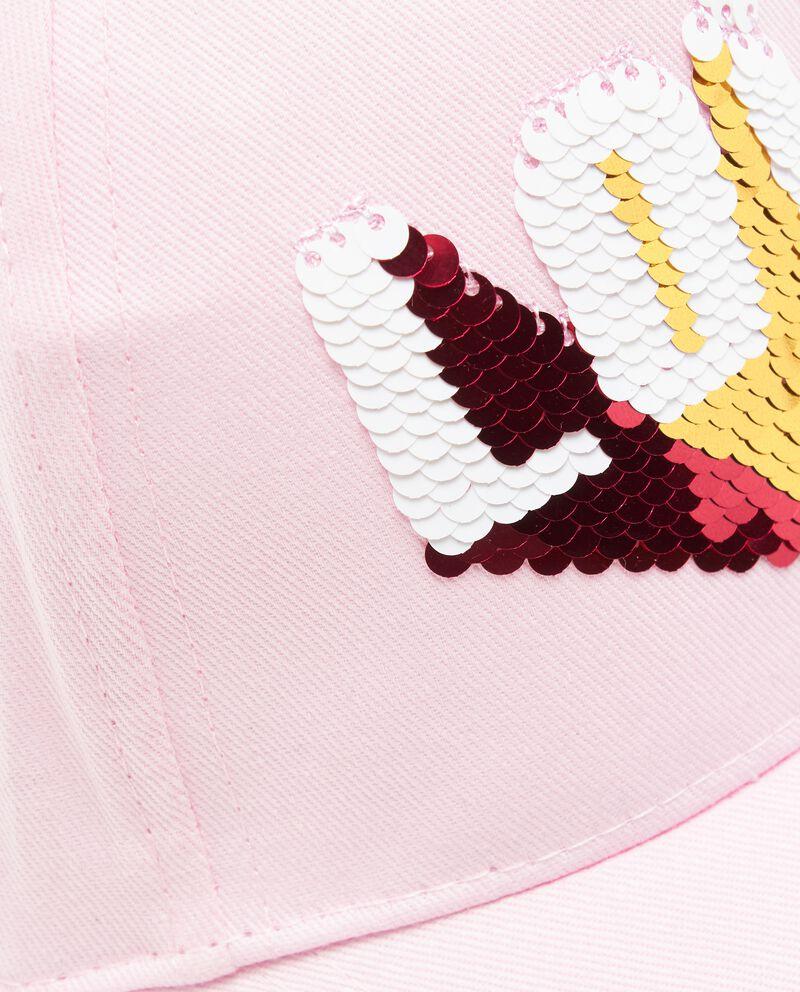 Cappellino con paillettes in puro cotone