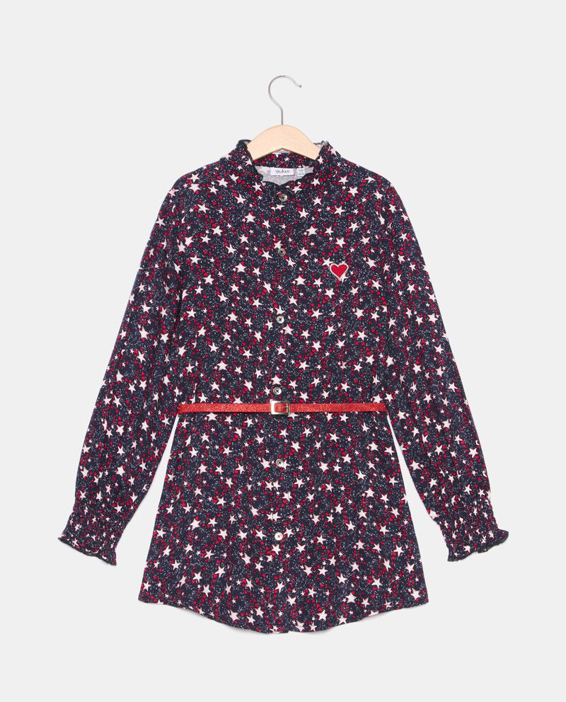 Camicia in fantasia long fit bambina cover