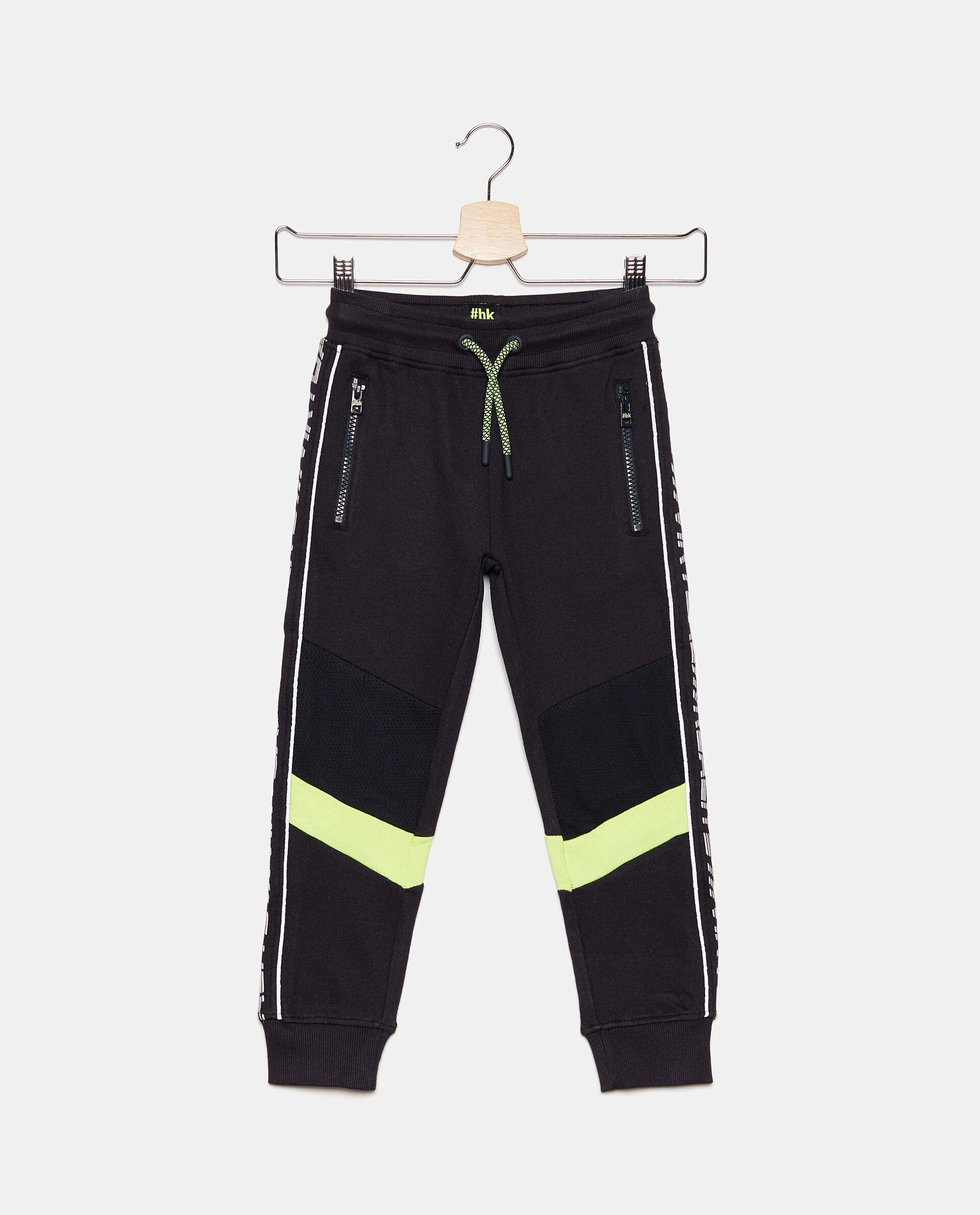 Pantaloni in cotone con bande bambino