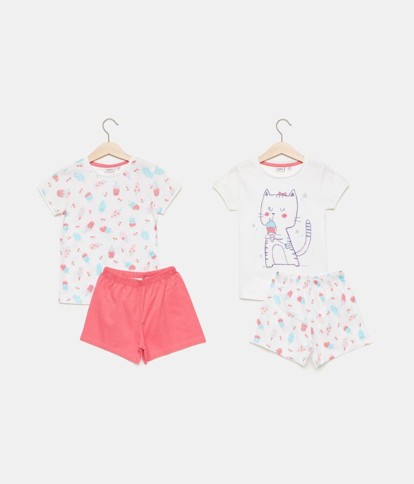 Bipack pigiami stampati in puro cotone bambina
