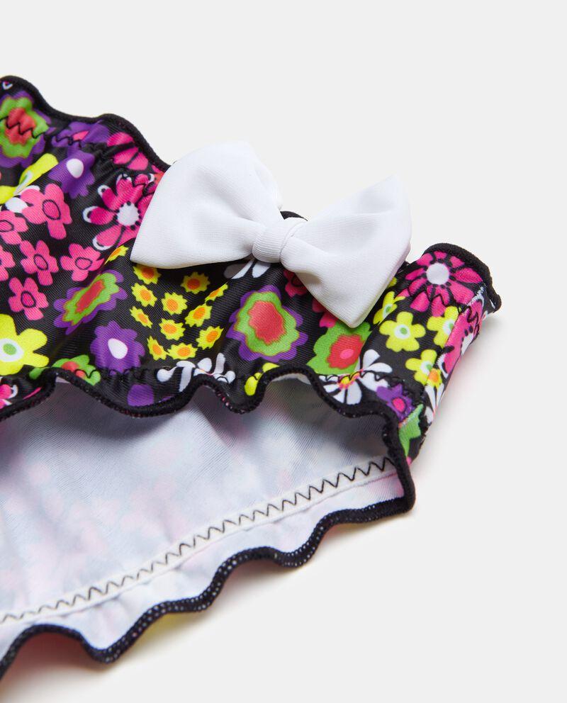 Slip costume con fantasia floreale bambina