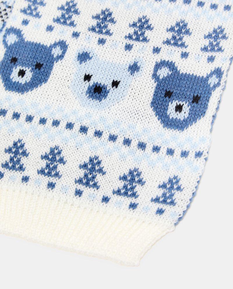 Sciarpa in maglia lavorata neonato single tile 1