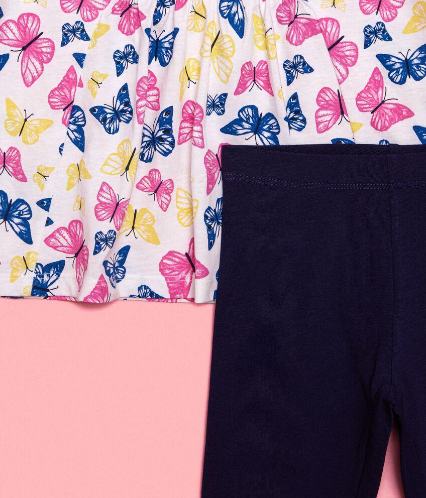 Set t-shirt e leggings in tinta unita