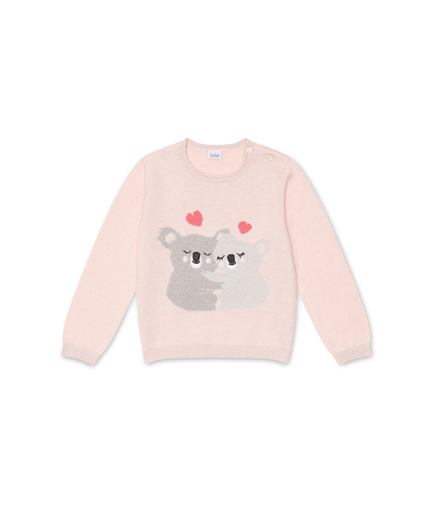 Pullover con lurex stampa koala