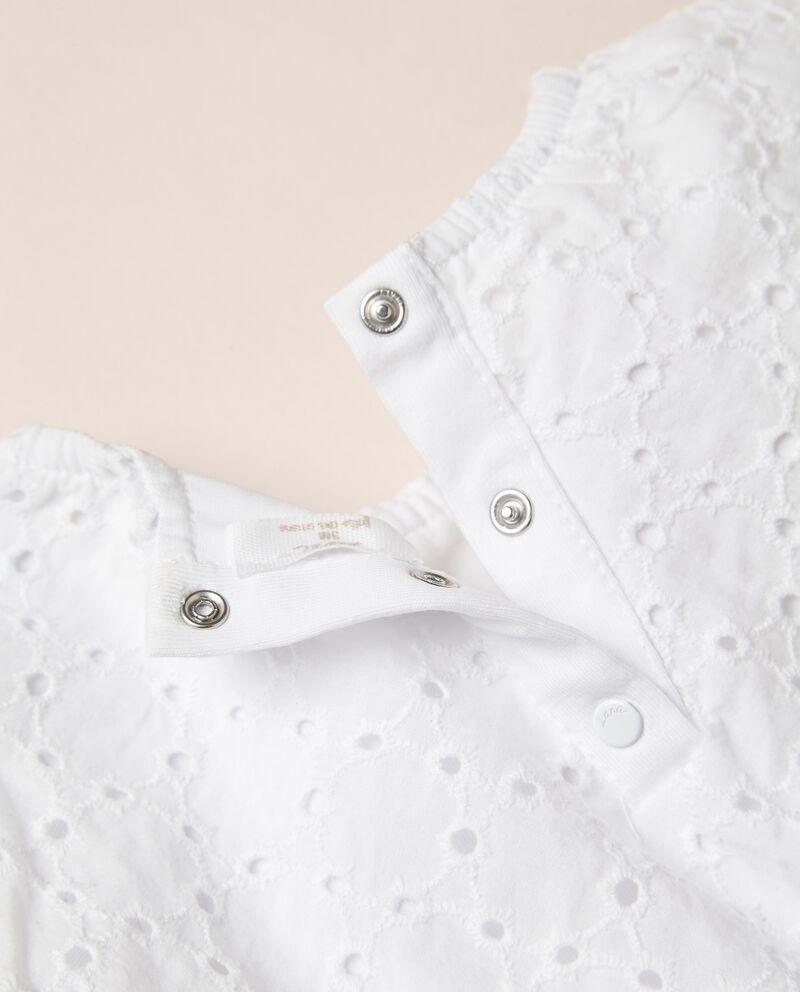 Body in cotone stretch con vestito in sangallo MADE IN ITALY single tile 1