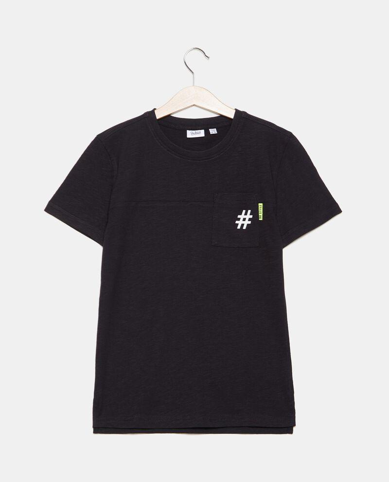 T-shirt in cotone organico jersey con taschino ragazzo cover