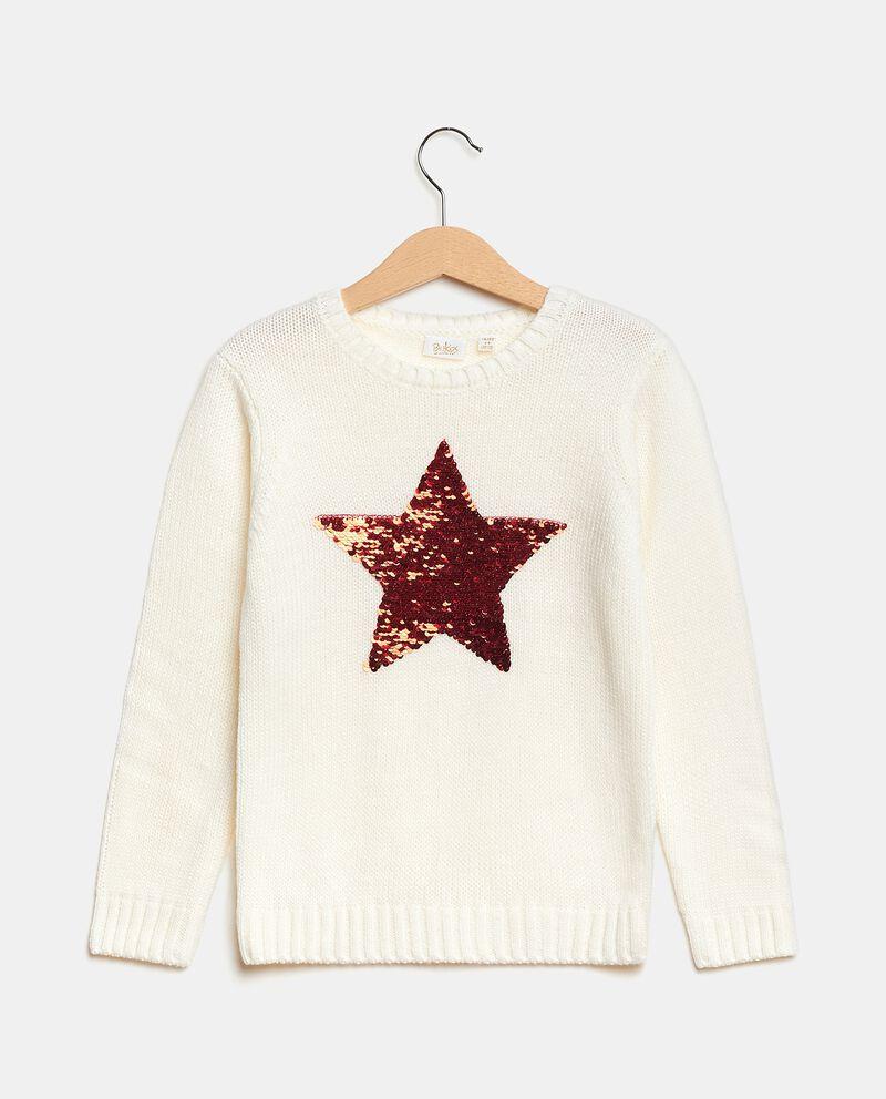 Maglioncino con stella in paillettes bambina cover