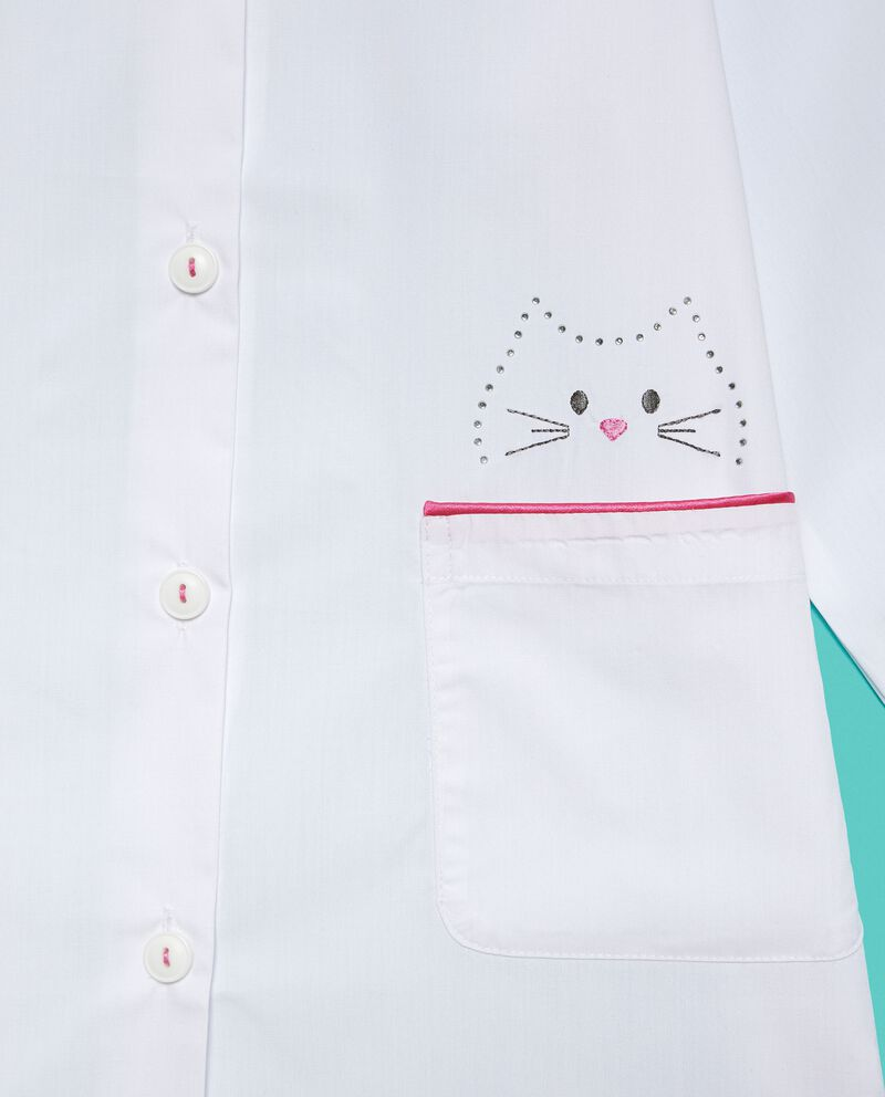 Grembiule con gatto disegnato