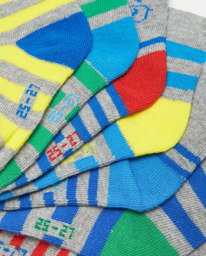 Set con 7 paia di calzini di cotone organico bambino single tile 1