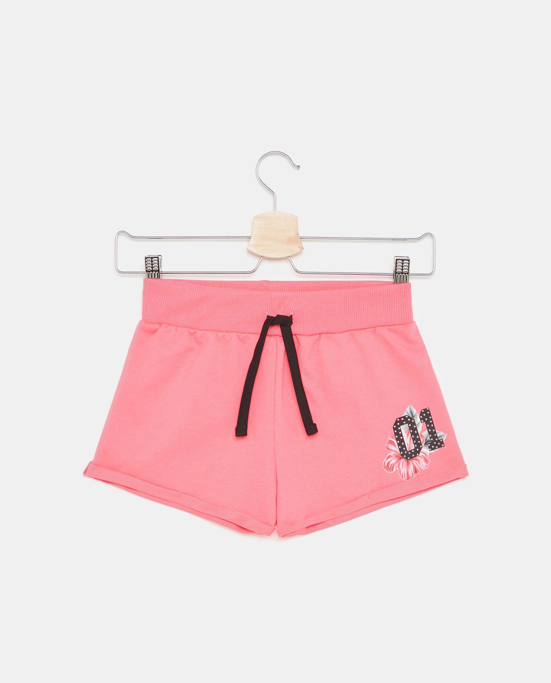 Shorts tinta unita in puro cotone ragazza