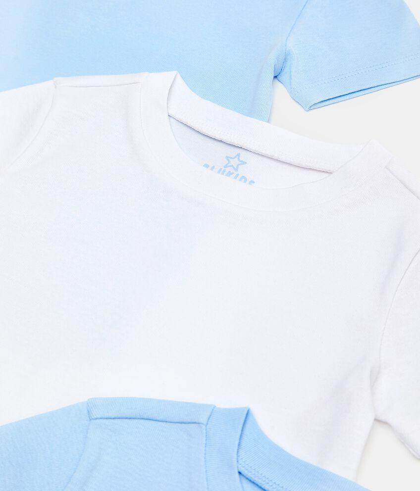 Set con 3 t-shirt intime girocollo in puro cotone biologico bambino double 2