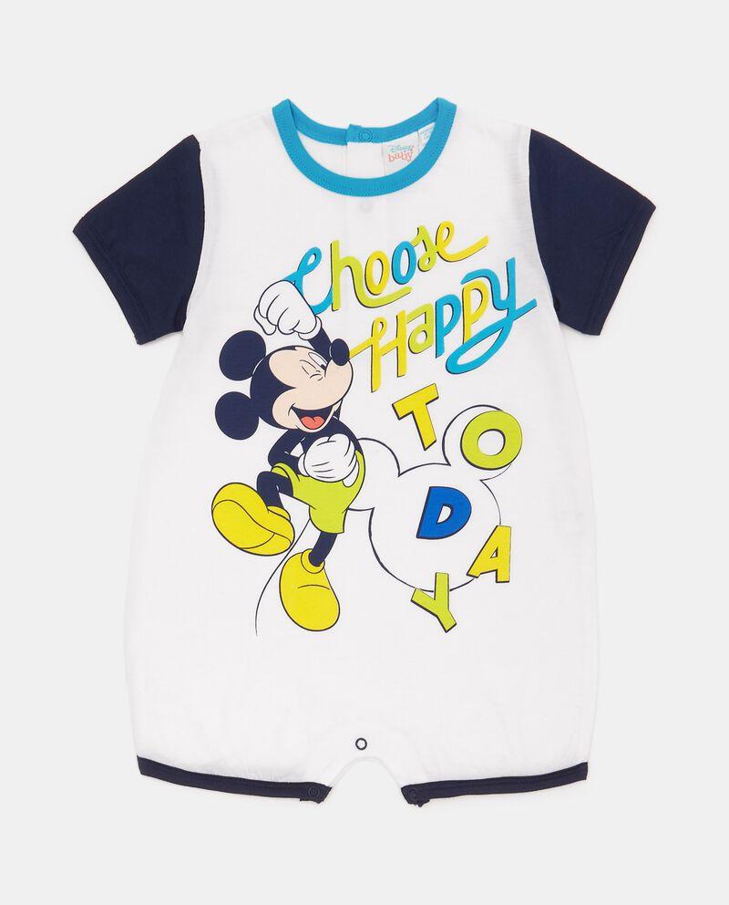 Tutina pigiama in puro cotone con Topolino neonatodouble bordered 0