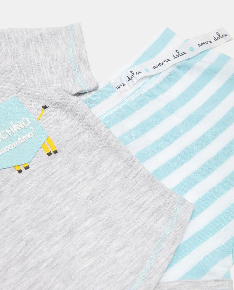 Completo con t-shirt e shorts in cotone stretchdouble bordered 1