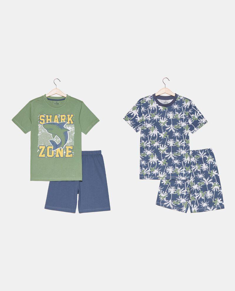 Bipack di 2 pigiami corti in cotone organico ragazzo cover