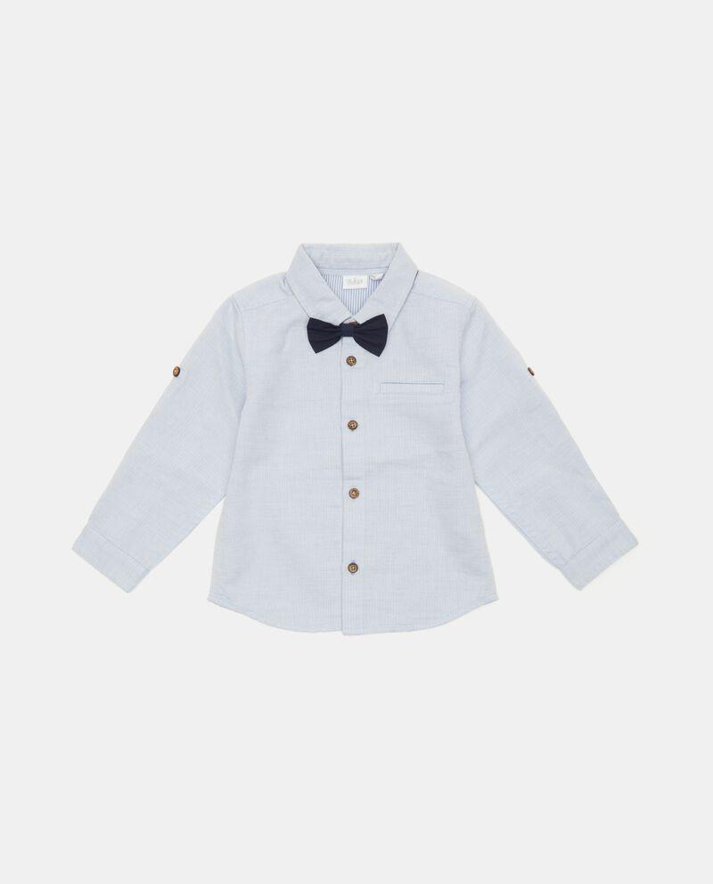Camicia elegante neonato in puro cotone biologico cover