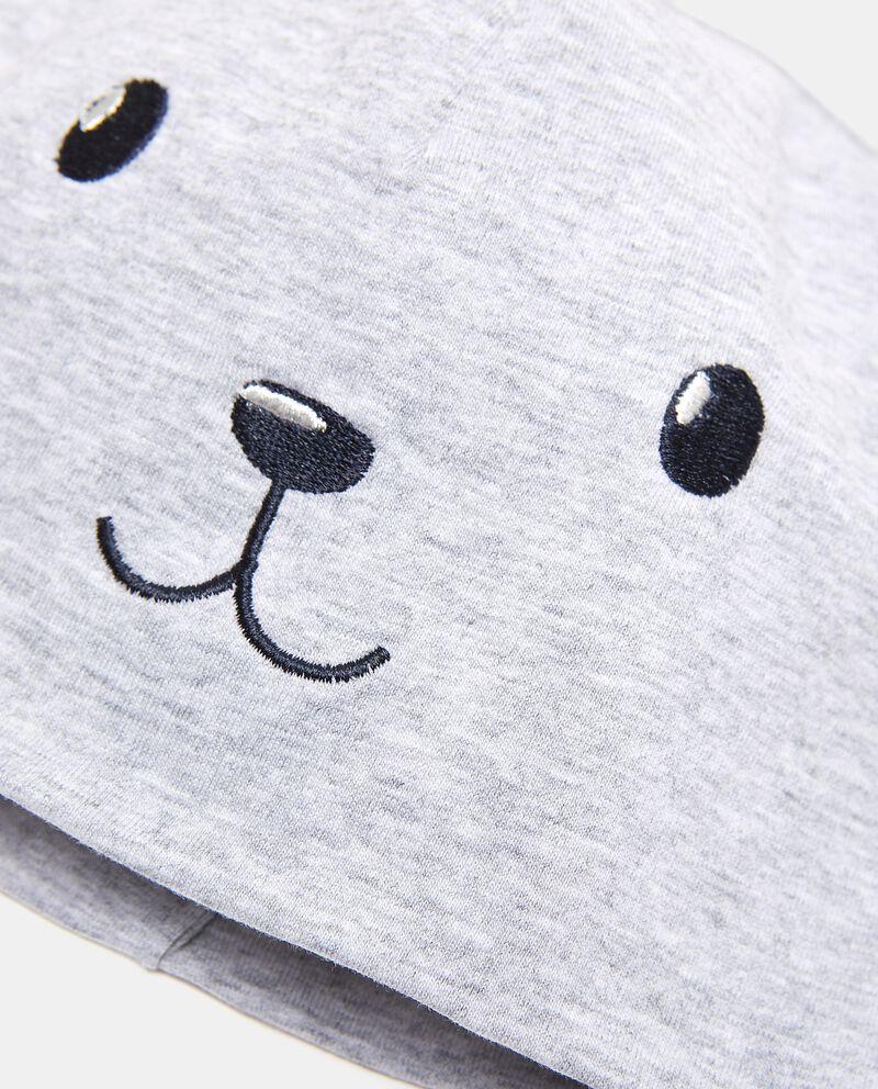 Berrettino cotone elasticato con orecchie neonato