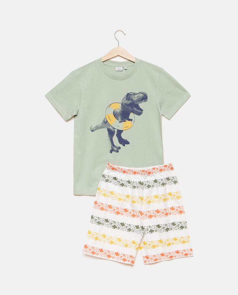 Set pigiama in puro cotone con t-shirt e shorts bambino cover