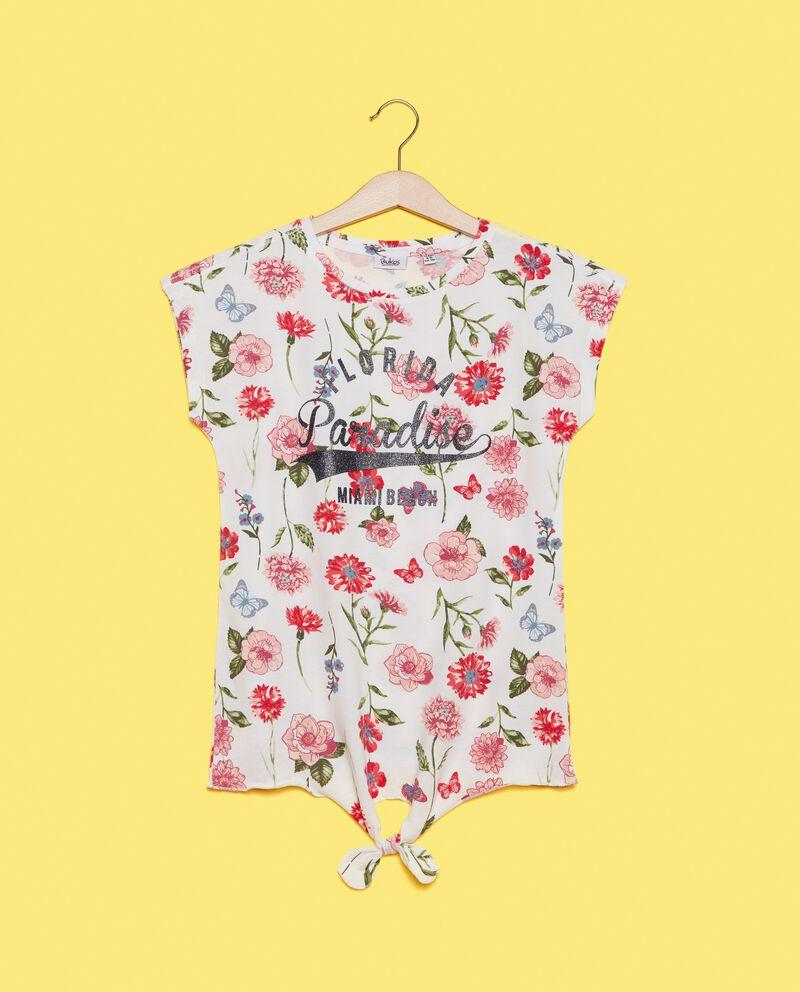 T-shirt in puro cotone con nodo
