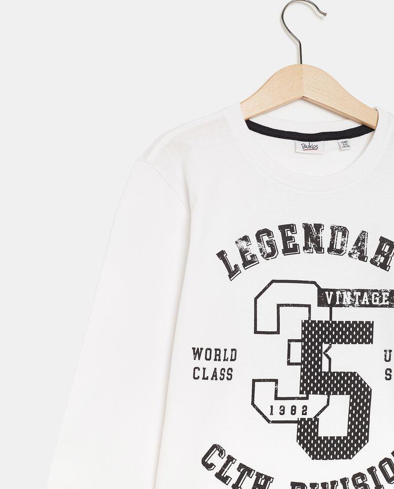 T-shirt cotone organico a maniche lunghe ragazzo single tile 1