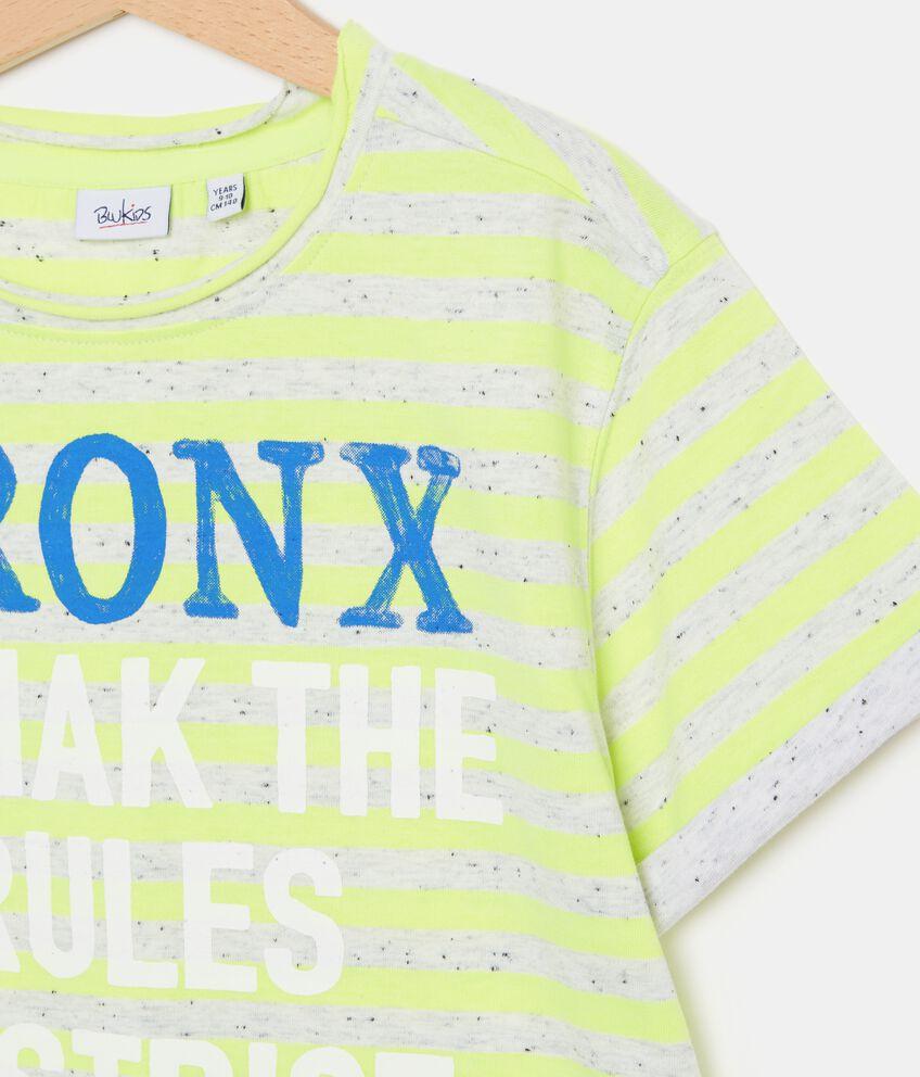 T-shirt con motivo a righe e lettering ragazzo double 2