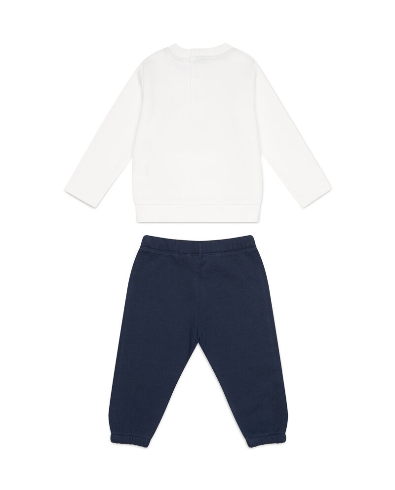 Tuta felpa e pantaloni cotone stampa