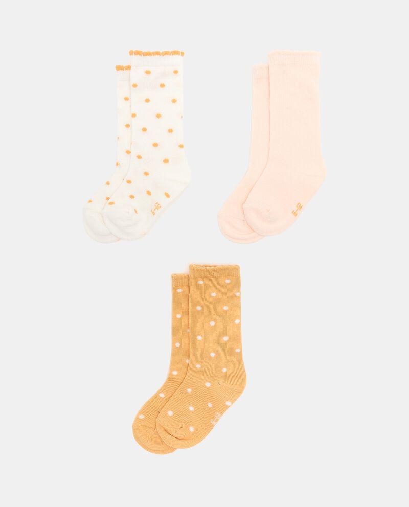 Pack con 3 paia di calzini cotone organico neonatadouble bordered 0