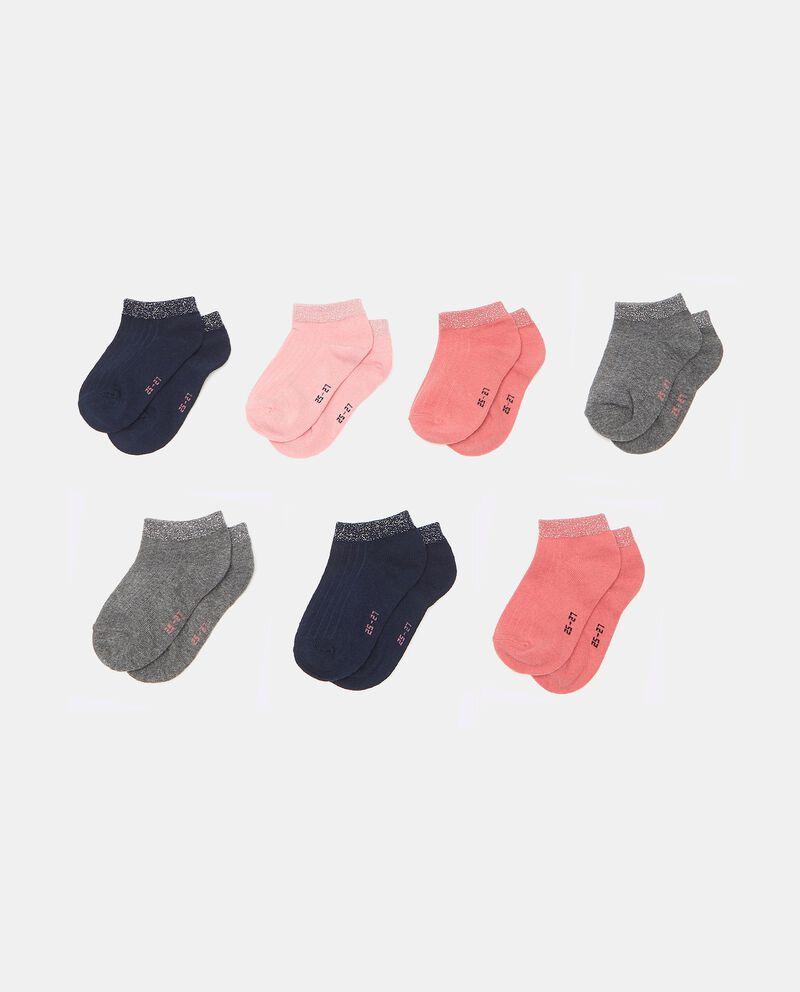 Set di 7 paia di calzini con filo lurex in cotone organico bambina cover