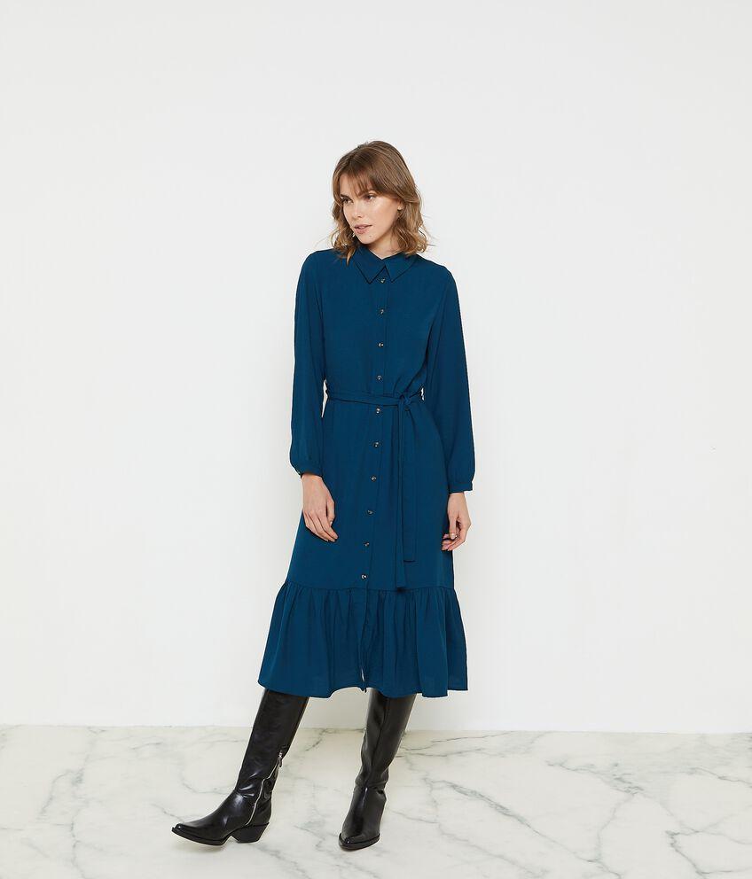 Vestito lungo a camice donna