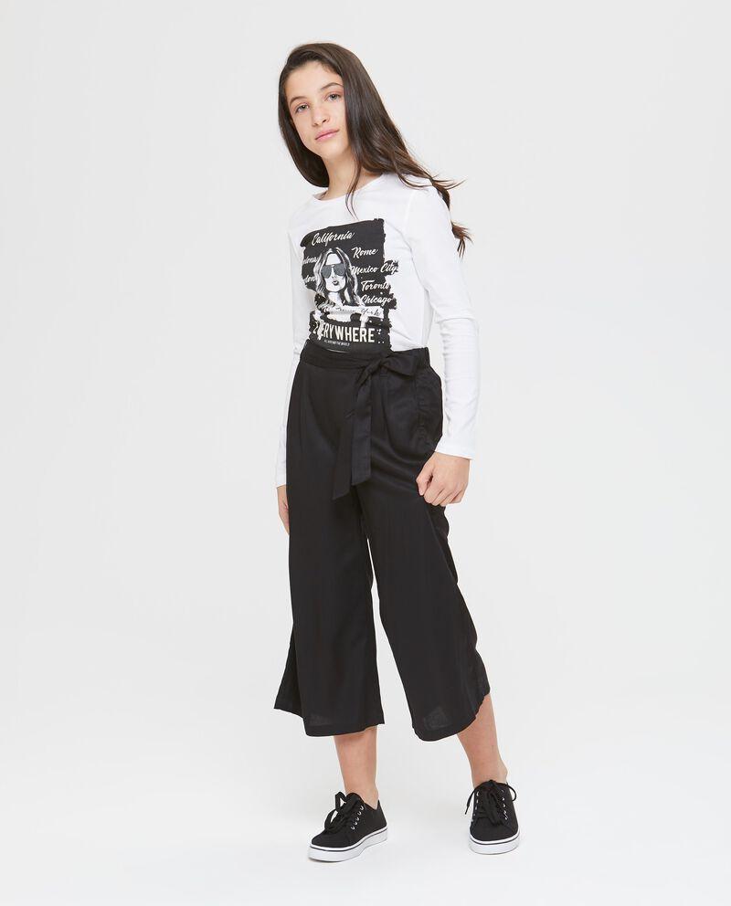 Pantalone a 3/4 a vita alta