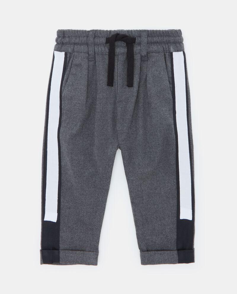 Pantaloni con bande laterali neonato